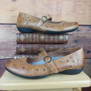 Lowa leather Mary Jane loafers comfort shoes